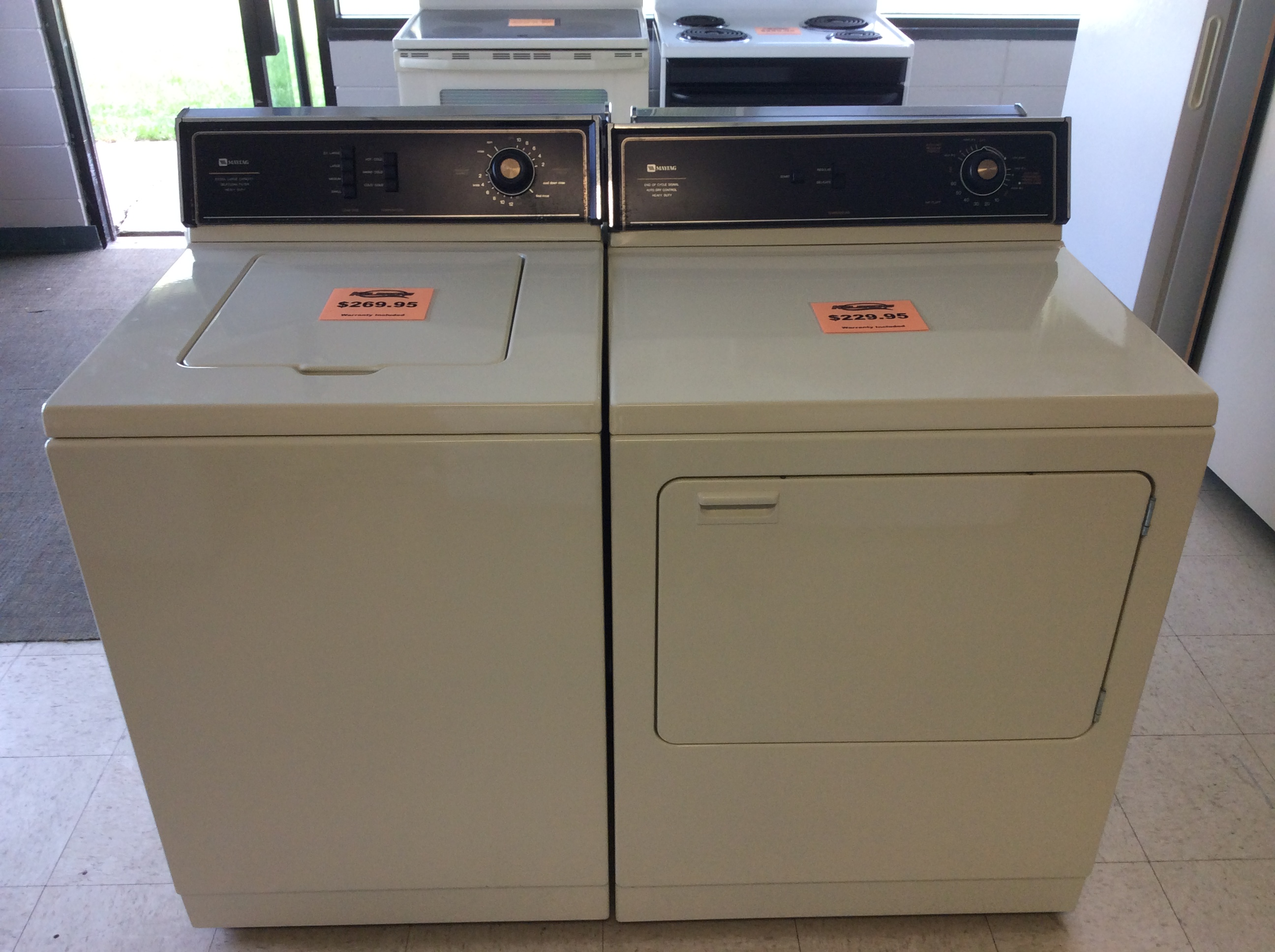 Maytag Washer And Eletric Dryer Set Kelbachs